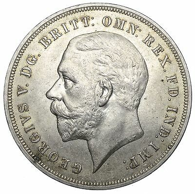 1935 Crown - George V British Silver Coin - V Nice
