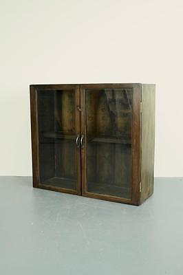 Vintage Pine Glazed Glass Display Cabinet/ Cupboard / Dresser #1818