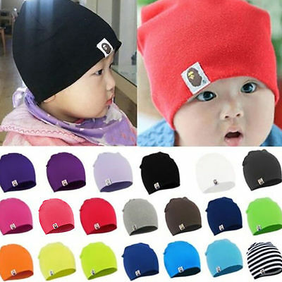 Newborn Baby Kids Boy Girl Infant Toddler Cotton Knit Hats Crochet Beanie Cap UK