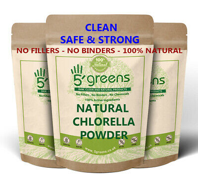 Natural Chlorella Powder Cracked Cell Wall Detox Cleanse Various Sizes Detox