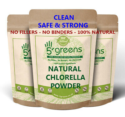 Organic Chlorella Powder Cracked Cell Wall Detox Cleanse Various Sizes Detox