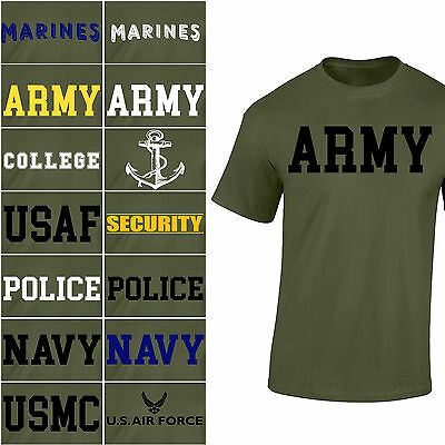 NEW US Army Navy Air Force USAF Marines USMC Military Physical Training T Shirt