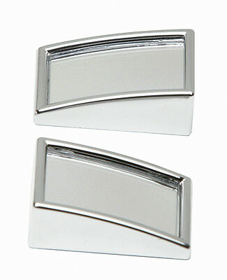 2 x Car Wide View Stick On Wing Mirror Convex Rectangle Blind Spot Mirrors #5523