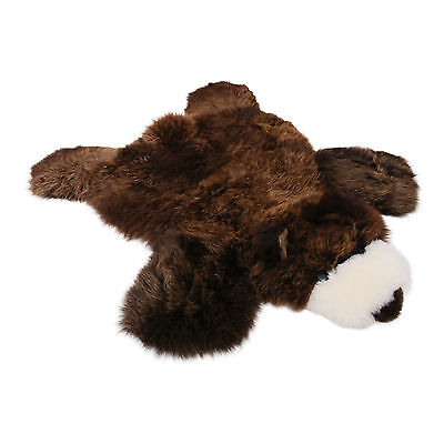 Lambskin Rug Grizzly for kids brown Natural sound Present Merino Fur