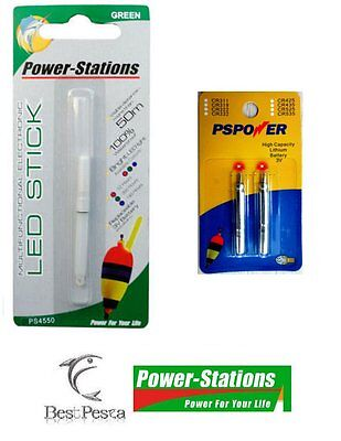 Power-Stations - STARLIGHT A LED - Ø4.5x50mm GREEN + 2 BATTERIE CR322