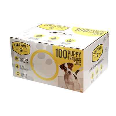100 Puppy Training Pads Ultra Absorbent Odour Eliminating Multi Layer Paw Value!