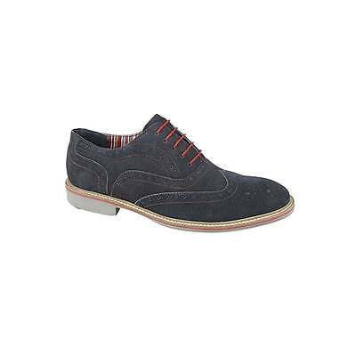 Roamers JOSEPH Mens Breathable Suede Leather Smart Casual Oxford Brogues Navy