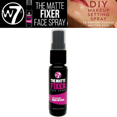 W7 Make UP - Matte Fixer Spray - Long Lasting MakeUp Setting Pulvérisation