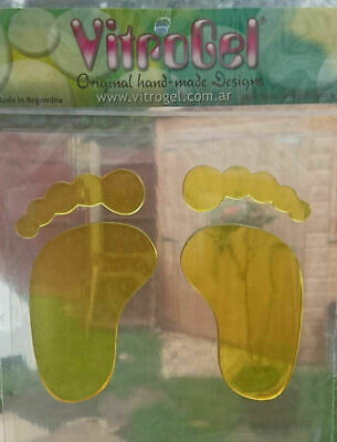 Vitrogel Feet Reusable Decorative Gel Window Clings Stickers  4 Colours