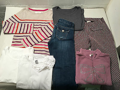 Lot Of 7 Mixed Girls Clothes Age 6-8 Years - Zara - Gap- Uniqlo - H+M - Vr