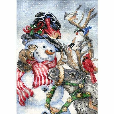 Dimensions - Counted Gold Cross Stitch Kit - Snowman & Reindeer - D08824