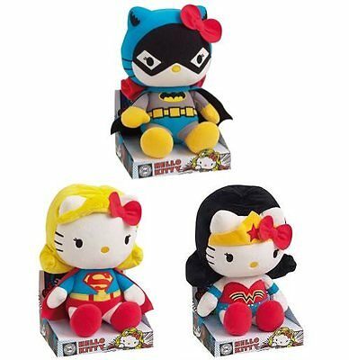 Hello Kitty DC Comics Large Plush Soft Toy Complete Set