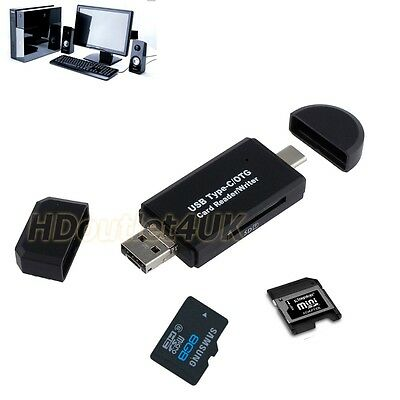 Type-c USB OTG Adapter SD/Micro SD Card Kartenleser für Apple Samsung PC MacBook