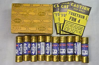 Fusetron FRN 4 Dual Element Class K9 Fuses NOS Box of 10
