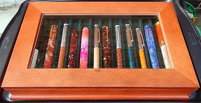Wooden pen display/storage chest