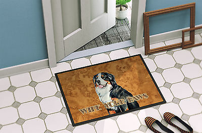 Bernese Mountain Dog Wipe your Paws Indoor or Outdoor Mat 18x27