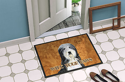 Bearded Collie Wipe your Paws Indoor or Outdoor Mat 18x27