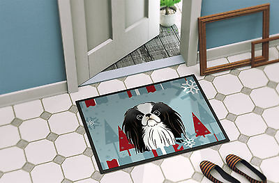 Winter Holiday Japanese Chin Indoor or Outdoor Mat 18x27