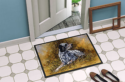 English Setter by Michael Herring Indoor or Outdoor Mat 18x27