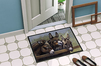 Donkeys by Daphne Baxter Indoor or Outdoor Mat 18x27