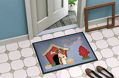 Dog House Collection Brittany Spaniel Indoor or Outdoor Mat 18x27