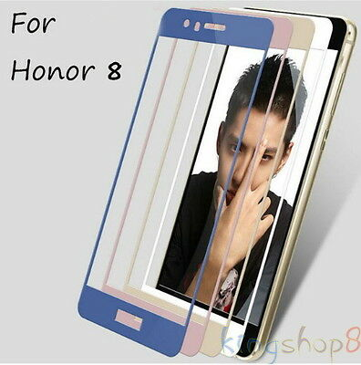 Full Cover Premium Real Tempered Glass Screen Protector Film For Huawei Honor 8