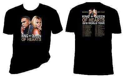 Mary J. Blige t shirt, King + Queen of Hearts Tour T Shirt, Maxwell