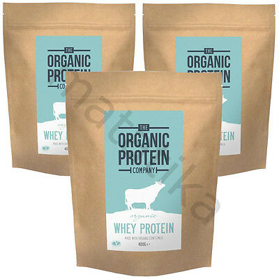Organic Whey Protein Powder 400grm The Organic Protein Company Sport supplement