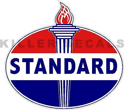 """(Stan-2) 6"""" Old Standard Torch Gas Pump Oil Tank Decal Gasoline Lubster"""