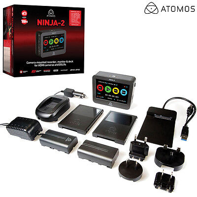 "Atomos 4.3"" Ninja 2 Video Monitor Recorder ATOMNJA003 NEW l Authorized Dealer"