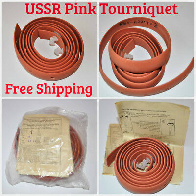 USSR Soviet Military Pink Tourniquet Rubber Stops Blood Flow Combat First Aid