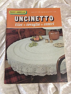 Punti Gioiello uncinetto filet Nr. 7 Häkelheft Italien häkeln Filethäkeln