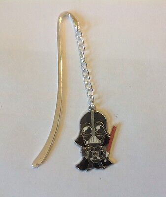 Star Wars Darth Vader  Bookmark Silver plated With an Enamel Charm.