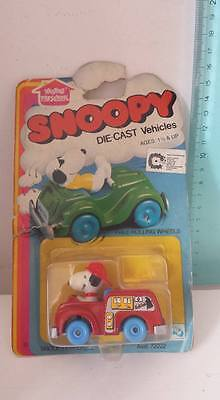 Snoopy Fire Engine Vintage Toys