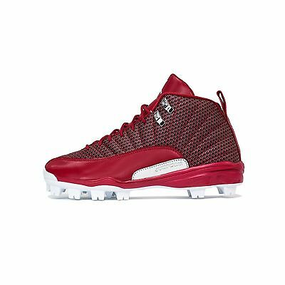 Nike Men's 2016 Air Jordan XII RETRO MCS Baseball CLEATS Gym Red 854566-600 a