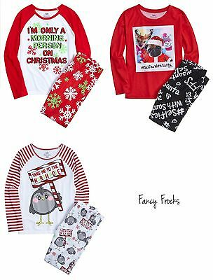 JUSTICE Girls Christmas Pajamas Pajama Set, NEW, 6 7 8 14 20  Selfie North Pole