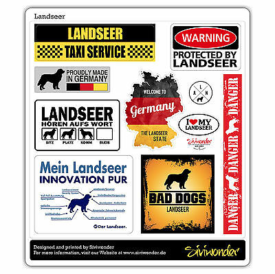 Auto Aufkleber Sticker LANDSEER COLLECTION DOG Sammlung reflex SIVIWONDER