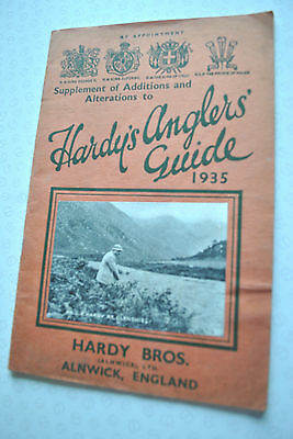 Rare Vintage Hardy's Supplement Of Additions Advertising Fishing Catalogue 1935