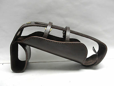 GATTORNA of Agentina LEATHER WATER/WINE BOTTLE CARRIER/HOLDER - EQUESTRIAN?