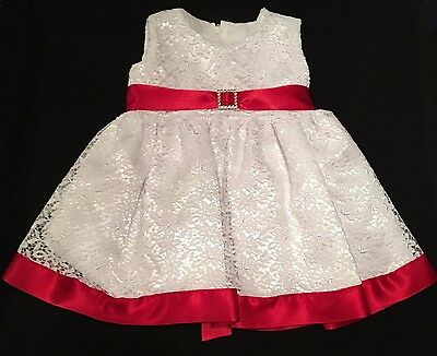Baby Girls Christening Dress White Red Cream Wedding Christmas Party Baptism