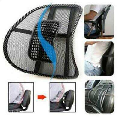 Mesh Lumbar Lower Back Support Cushion Pain Relief Car Seat Posture Corrector LH