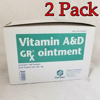Geritrex Vitamin Ad 95 Ointment Packets 5gm 144ct 4 Pack