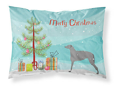 Scottish Deerhound Merry Christmas Tree Fabric Standard Pillowcase