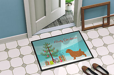 Norfolk Terrier Merry Christmas Tree Indoor or Outdoor Mat 18x27
