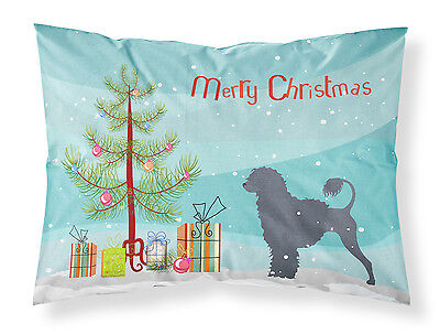 Portuguese Water Dog Merry Christmas Tree Fabric Standard Pillowcase