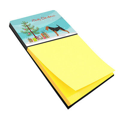 Airedale Terrier Merry Christmas Tree Sticky Note Holder