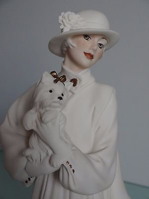 Giuseppe ARMANI Young Lady with Yorkshire Florence Figurine 1993