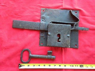 VTG Antique GIANT BIG Real Lock Key Sweden Old Swedish Farm Door Scandinavian