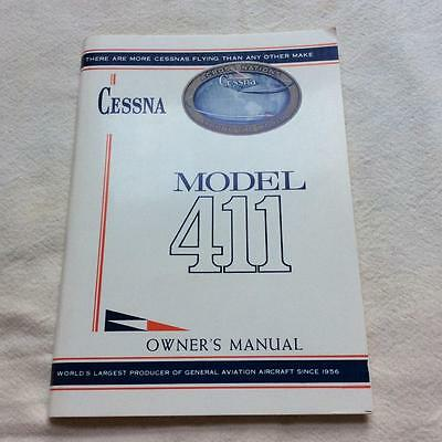Cessna MODEL 411 1960s Owners Manual