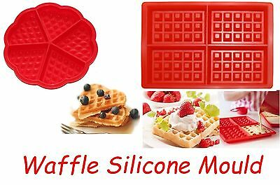 Waffle Silicone Mould Mold Pan Tray Cake Baking Cooking Dessert Belgium Cafe